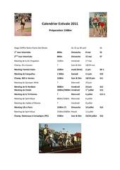 20 calendrier estivale 2011