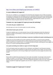 Fichier PDF comment gagner l argent avec klikot reseau social remunirateur doc