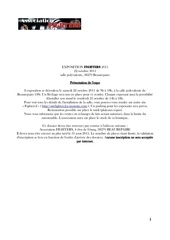 dossier inscription exposant