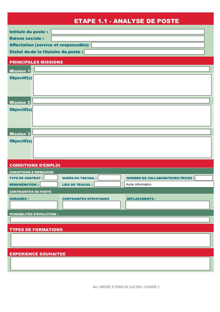 fiche de poste - Fichier PDF