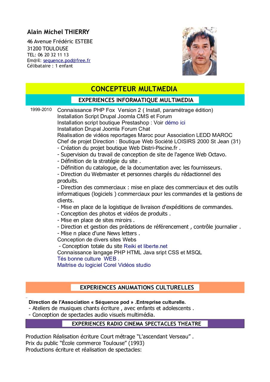 alain michel thierry cv  alain-michel-thierry-cv pdf