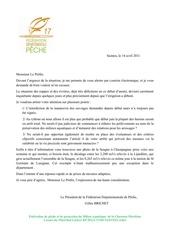Fichier PDF lettre au prefet