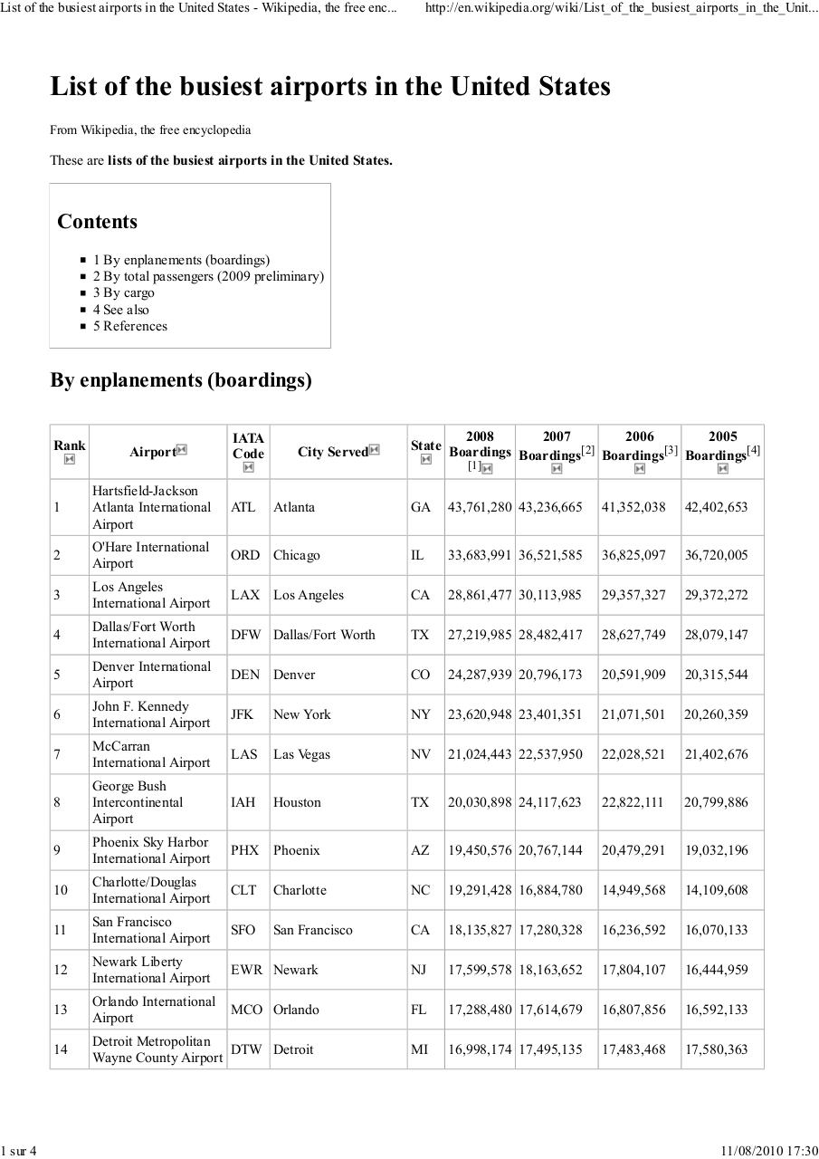 Aperçu du document List of the busiest airport in usa.pdf - page 1/4