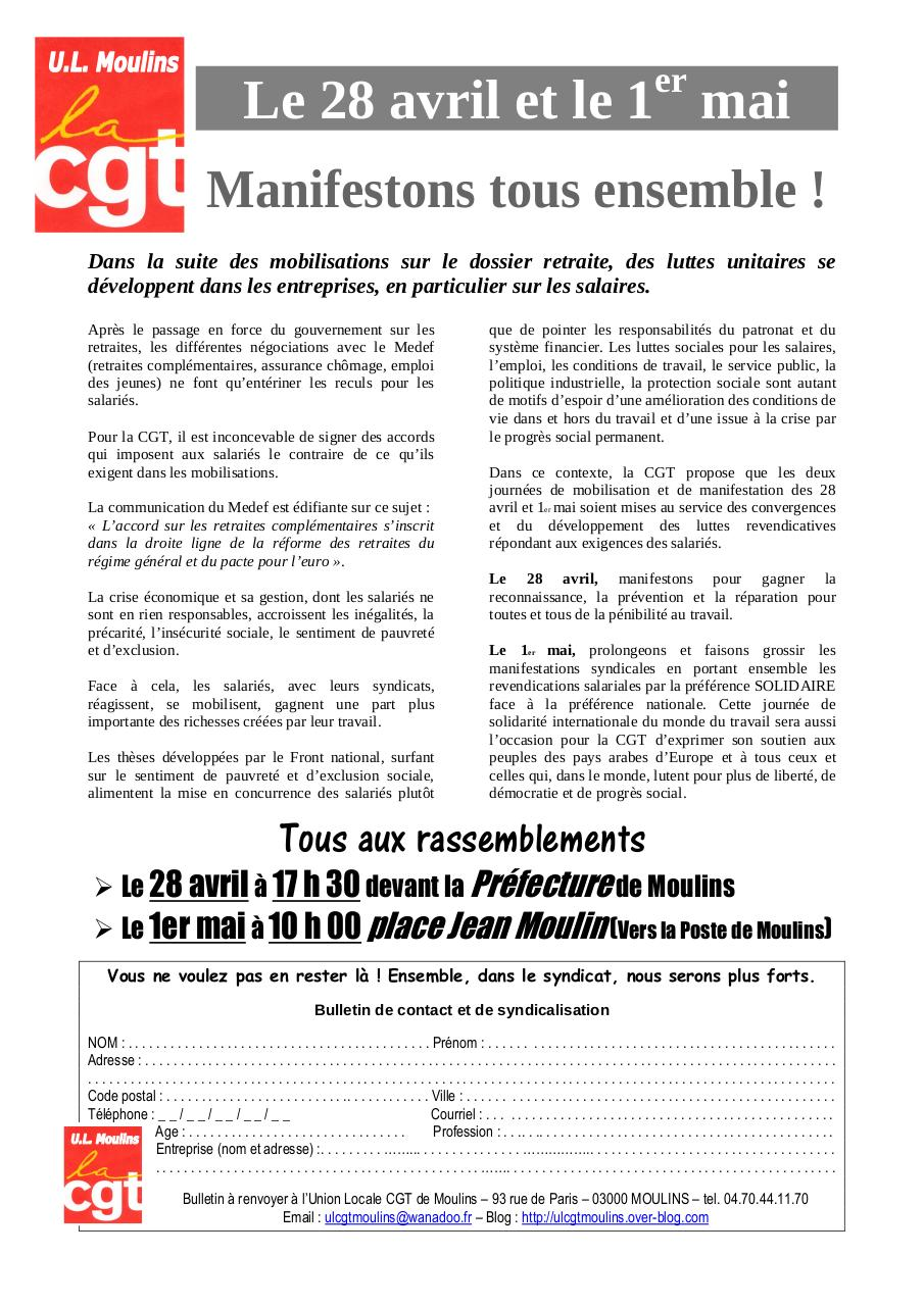 Aperçu du document Le 28 avril et le 1er mai.pdf - page 1/1