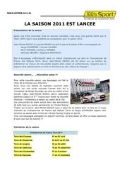 Fichier PDF presentation de la saison