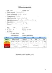 programme general