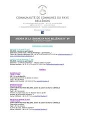 agenda de la semaine en pays bellemois n 69