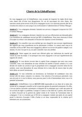 charte de la globalpartner