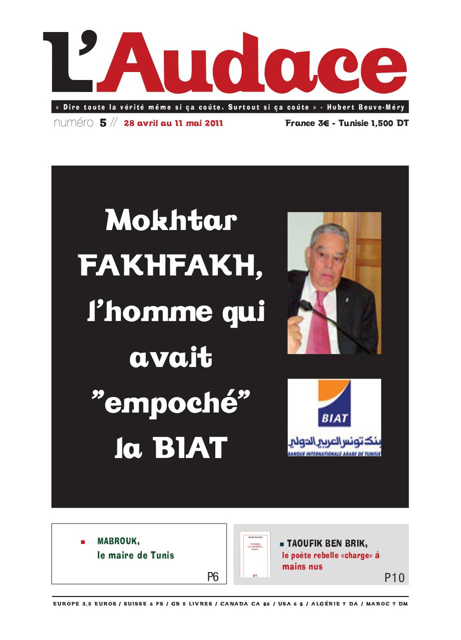 L audace tunisie pdf writer