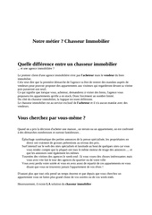 notre metier chasseur immobilier