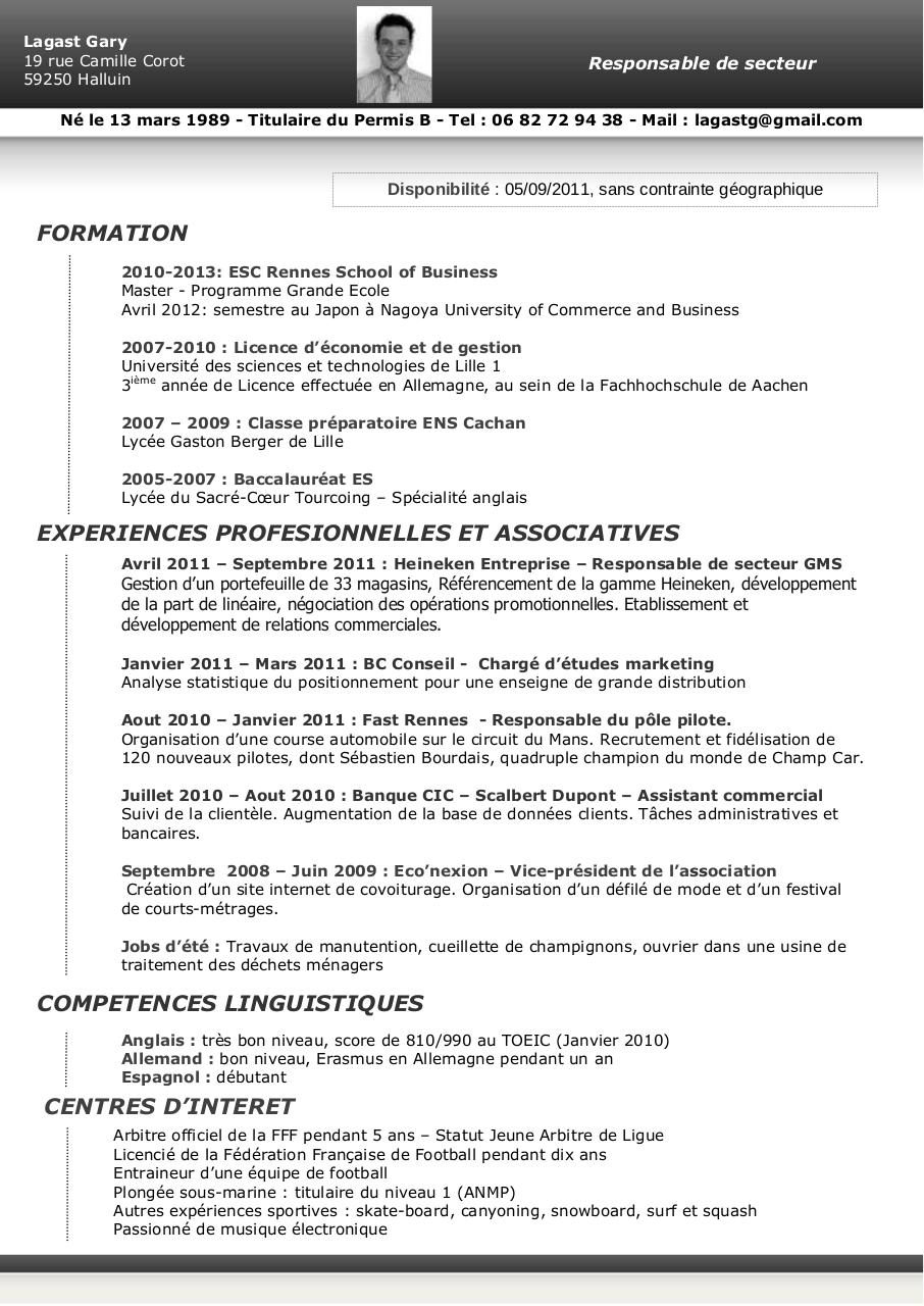 cv - gary lagast pdf par free cv