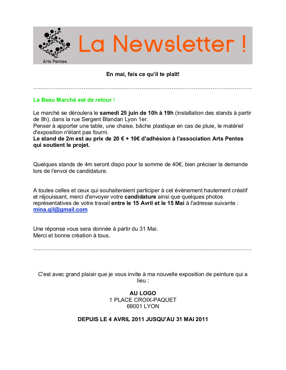 Aperçu du document NewsletterAP05-11.pdf - page 1/10