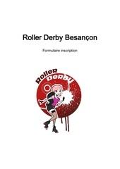 roller derby besancon formulaire d inscription