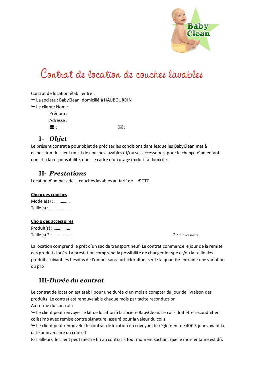 contrat de location auto pdf