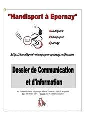 Fichier PDF dossier handisport