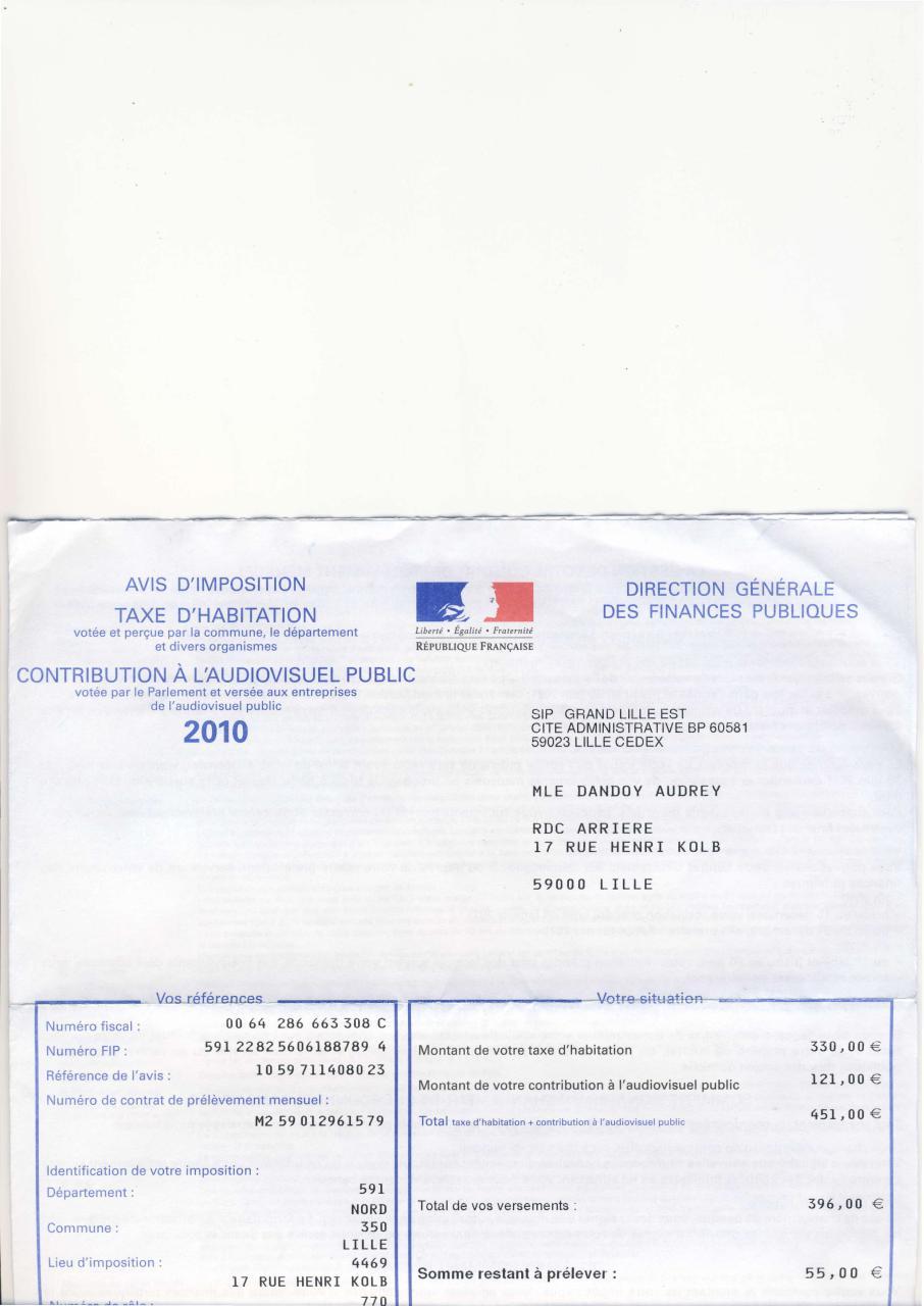 Vetements cuir taxes d habitation - Exoneration taxe habitation si non imposable ...