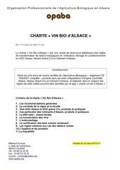 charte vin bio alsace