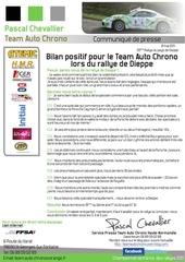 communique de presse team auto chrono haute normandie resultat du rallye de dieppe