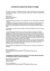 contrat de cession de droits flashmob
