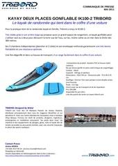 communique de presse kayak ik100 2 tribord