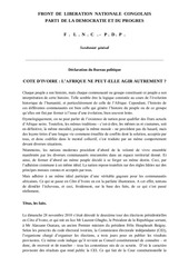 declaration du bureau politique du flnc