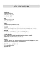 offre emploi 2011