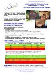 Fichier PDF fiche description chalet epinette tarifs 2ime semestre 2011