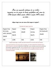 Fichier PDF offres tirages d art