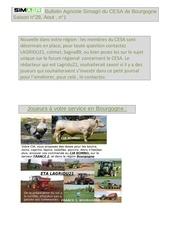 bulletin agricole simagri du cesa de bourgogne