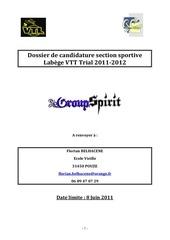 dossier de candidature section sportive labege vtt trial 2011