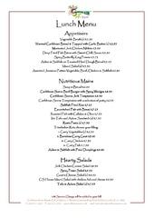 rvd lunch menu