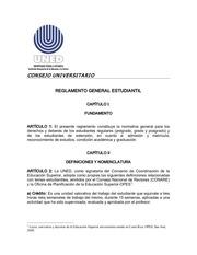reglamento general estudiantil