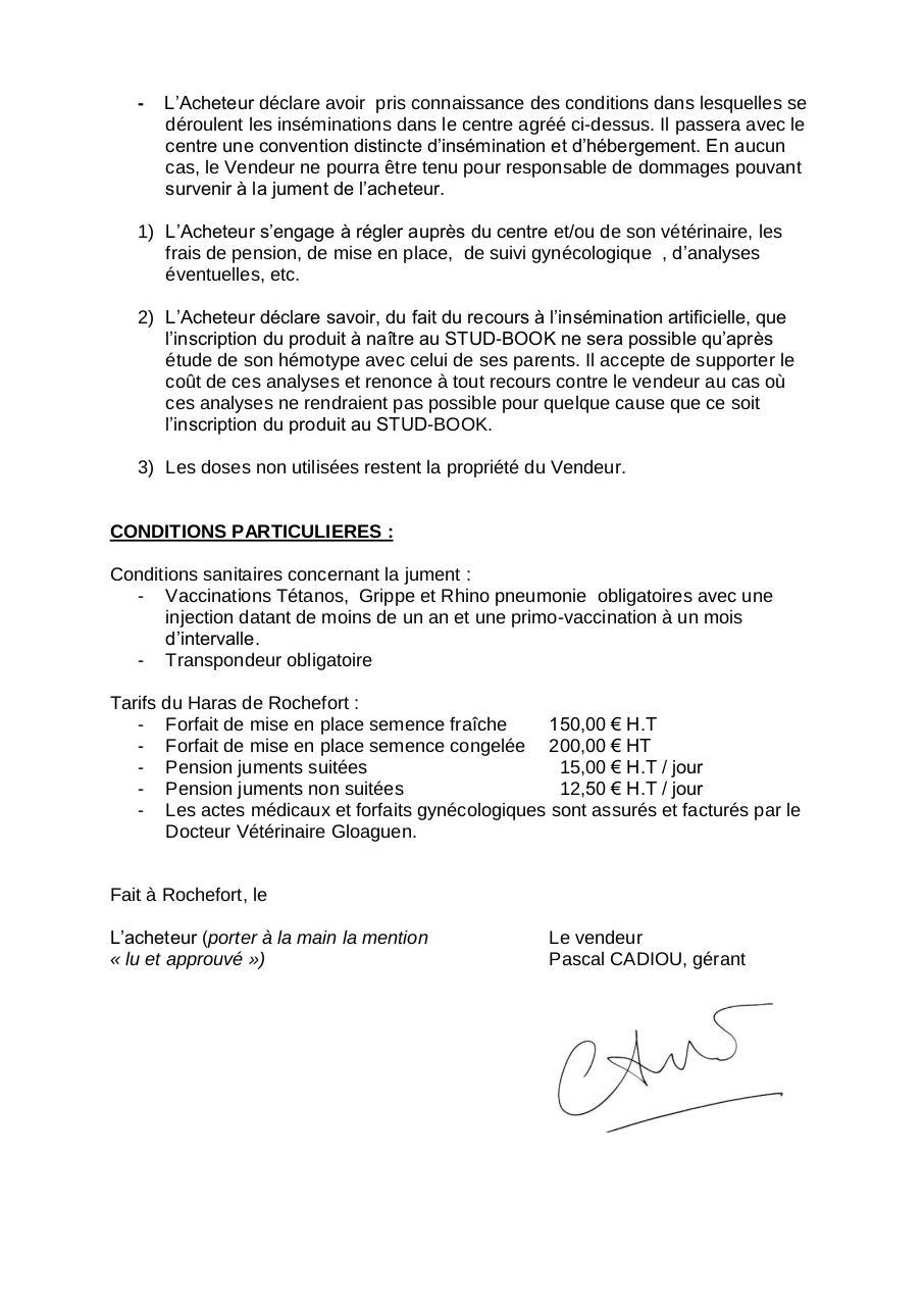 contrat de saillie fetiche2011 par c line marche fichier pdf. Black Bedroom Furniture Sets. Home Design Ideas