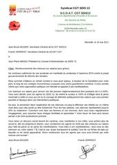 courrier maggi retenues salaires greves