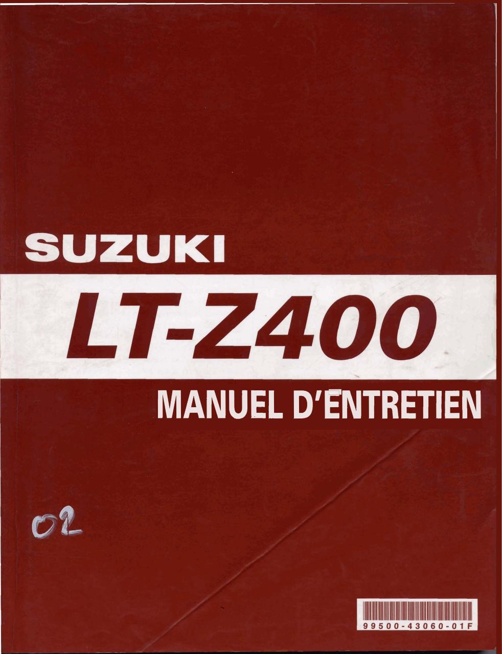 ltz400 2005 livre technique fran ais fichier pdf. Black Bedroom Furniture Sets. Home Design Ideas