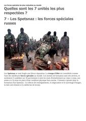 les forces speciales les plus redoutees au monde