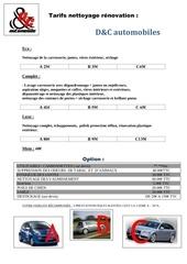tarif nettoyage