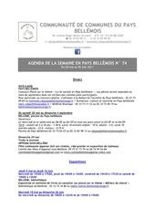 Fichier PDF agenda de la semaine en pays bellemois n 74