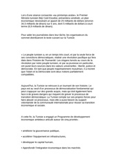 document du g8 pour a tunisie