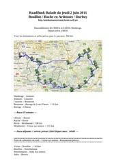roadbook balade du jeudi 2 juin 2011