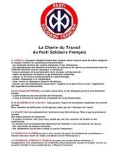 la charte du travail parti solidaire francais