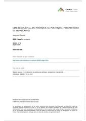 Fichier PDF poetique des journaux
