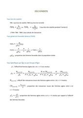 formules de fecondite