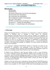 cours antiseptiques