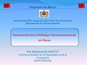 instrument politique environnement