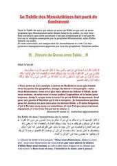 Fichier PDF le takfir des moushrikeen