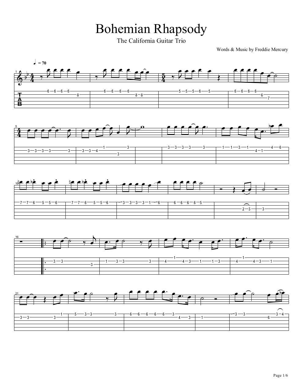 Top 12 Bohemian Rhapsody Piano Sheet Music Pdf Jarrod