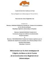 mmorandum sur le choix stratgique du maghreb en franais