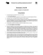 annexes i ii iii