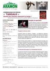 tangalo 2011 communique de presse web